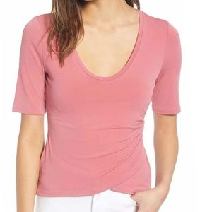 LEITH RUCHED SIDE TEE